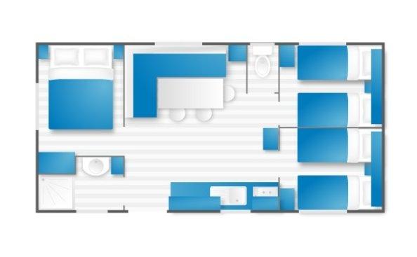 Camping Ramatuelle Cap Taillat - Blue Lagon 3 - Plan